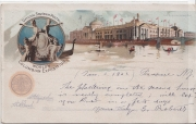 Official Souvenir Postal World´s Columbian Exposition Chicago The Agricultural building