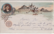 Official Souvenir Postal World´s Columbian Exposition Chicago The Fisheries building
