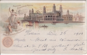 Official Souvenir Postal World´s Columbian Exposition Chicago The Electrical building