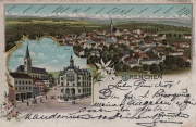Grenchen - farbige Litho